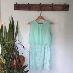 Cute mint green dress